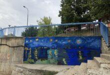 """Photo of Oslikavanjem murala """"Zvezdana noć nad Vlasinom"""" počelo uređenje vlasotinačkog keja"""