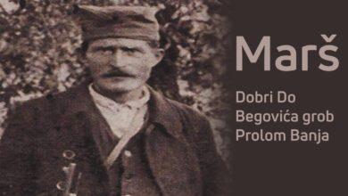 Photo of MARŠ U ČAST SLAVNOG JUNAKA Topličkog ustanka, komandanta Jablaničkog odreda poručnika Dimitrija Begovića