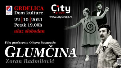 """Photo of """"Glumčina"""" osvaja Srbiju. Sledeće prikazivanje filma Olivera Paunovića u Grdelici"""